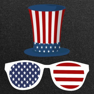 UncleSam American Hat Sunglasses - Jersey Beanie