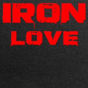 iron love red - Jersey-Beanie