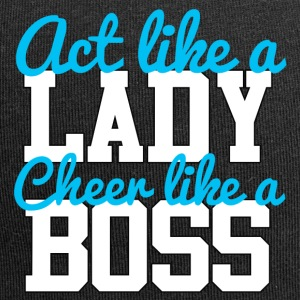 Cheerleader: Act like a Lady. Cheer like a Boss. - Jersey Beanie