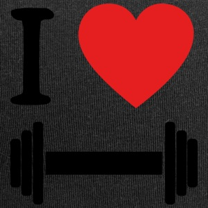 I Love Fitness Black - Jersey Beanie