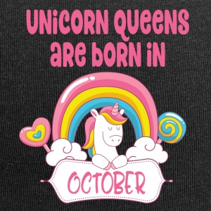 Unicorn Queens are born in October - Jersey Beanie