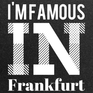 i'm famous in Frankfurt white - Jersey Beanie