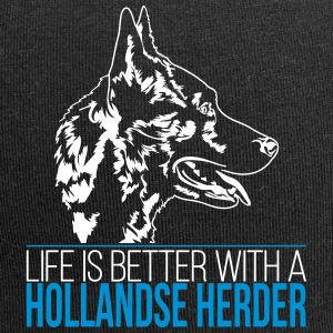 LIFE IS BETTER WITH A HOLLANDSE HERDER - Jersey Beanie