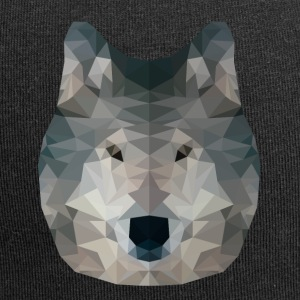 Low Poly 2D - Wolf - Jersey-Beanie