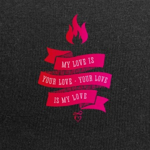 love liebe Feuer Retro Vintage Flame pink band - Jersey-Beanie