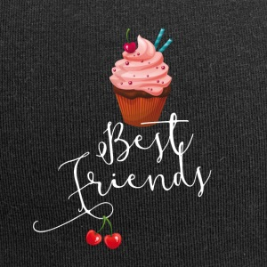 sweet best friends buddies cupcakes pink tasty - Jersey Beanie