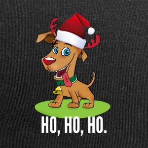 santa dog cute moose Santa comic - Jersey Beanie