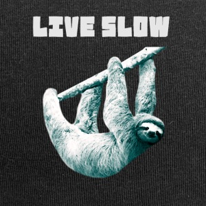 sloth-watercolor slowly Slow hanging lazy nerd ge - Jersey Beanie