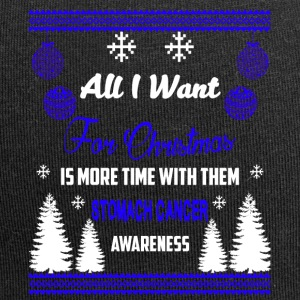 Magen Cancer Awareness! All I Want For Christmas - Jersey-beanie