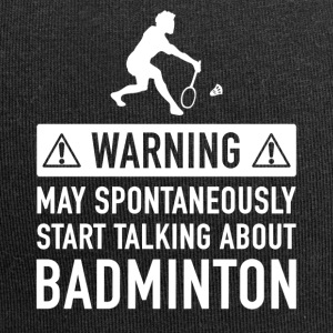 Funny Badminton Player Gift Idea - Jersey Beanie