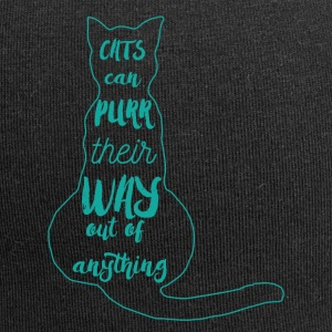 Cats: Cats can purr Their way out of anything! - Jersey Beanie