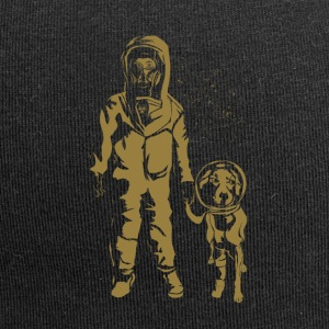 Space Women with dog Gold - Jersey Beanie