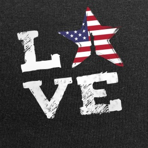 Love usa America flag proud 4th of july national lol - Jersey Beanie