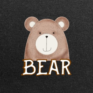 Bear cute brown face bearded cuddly animal il - Jersey Beanie