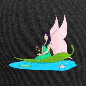 Fairy swims on a leaf in the pond - Jersey Beanie