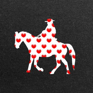 Country rider Western riding with heart - Jersey Beanie