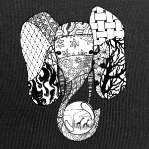 Zentangle-Elephant - Jersey-Beanie