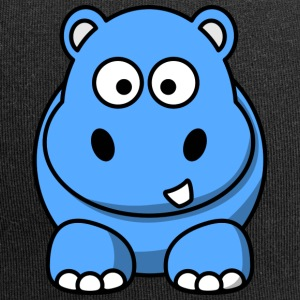 Lustiges Nilpferd Happy Hippo Comic Kinder - Jersey-Beanie