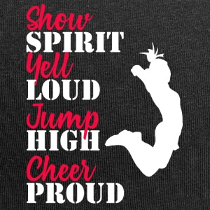 Cheerleader: Show Spirit, Yell Loud, Jump High, ... - Jersey Beanie