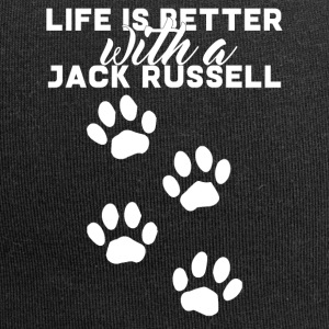 Hund / Jack Russell: Life Is Better With A Jack - Jersey-Beanie