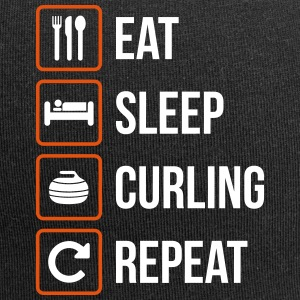 Eat Sleep Curling Repeat - Jersey Beanie