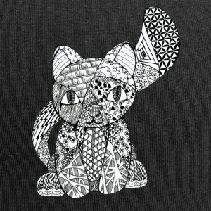 Zentangle-Kitten - Jersey-Beanie