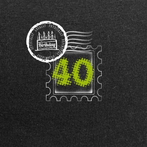 pie 40th birthday gift stamp Post - Jersey Beanie