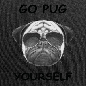 go pug yourself black - Jersey Beanie