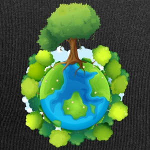 tree forest nature planet - Jersey Beanie