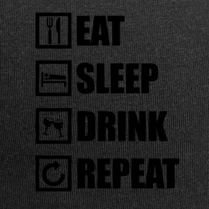 EAT SLEEP DRINK REPEAT - Jersey Beanie