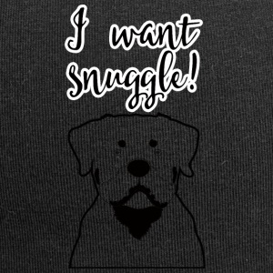 Hund / Rottweiler: I want snuggle! - Jersey-Beanie