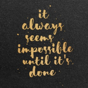 Impossible Until Done - Jersey-Beanie