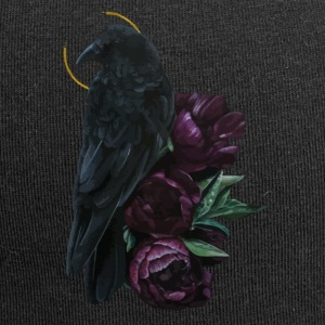 crow and flowers - Beanie in jersey