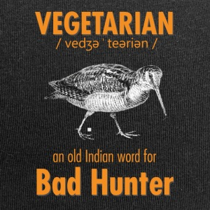 Vegetariano - una vecchia parola indiana per Bad Hunter - Beanie in jersey