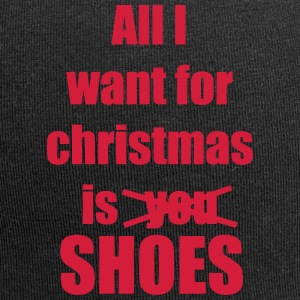 Christmas song saying shoes - Jersey Beanie