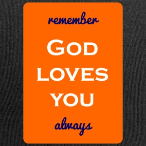 remember god loves you always - Jersey-Beanie