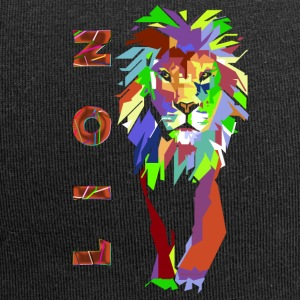 pop art Lion (ms) - Bonnet en jersey