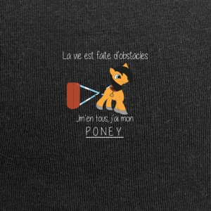 T-shirt poney équitation - Bonnet en jersey