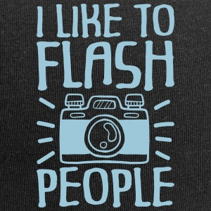 I Like to Flash People photographer - Jersey-Beanie