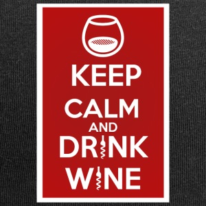 Keep Calm and DRINK WINE - Jersey Beanie