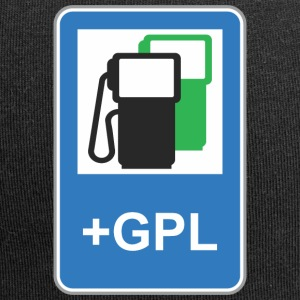 Road sign gas station green gpl - Jersey Beanie