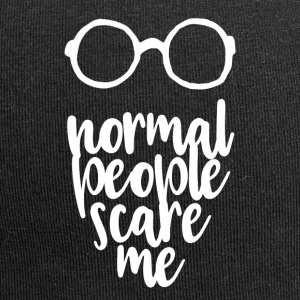 Normal people scare me - white - Jersey Beanie