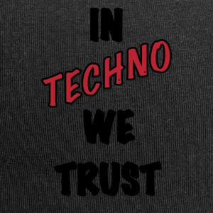 IN TECHNO WE TRUST - Beanie in jersey