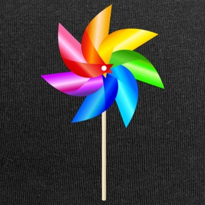colorful windmill children's toys rainbow Summer - Jersey Beanie