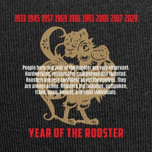 Year of The Rooster Traits Characteristics - Jersey Beanie