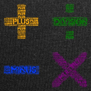 Plus Minus Multiply & Div - Jersey-Beanie