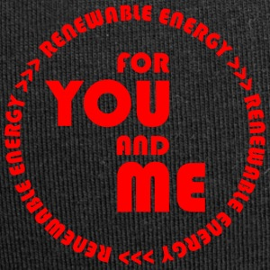 RENEWABLE ENERGY for you and me - red - Jersey Beanie