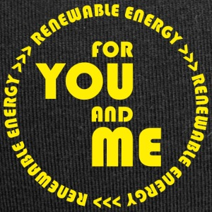 RENEWABLE energy for you and me - yellow - Jersey-Beanie