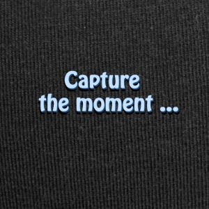 capture the moment photographer`s slogan - Jersey Beanie