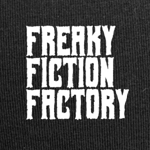 Freaky Fiction Factory Offical Logo Hvit - Jersey-beanie